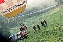 Start horkovzdušného balonu