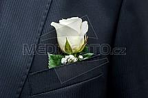 růže, bílá, sako, kapsa