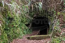 Leváda, cesta, trek, zavlažování, tunel