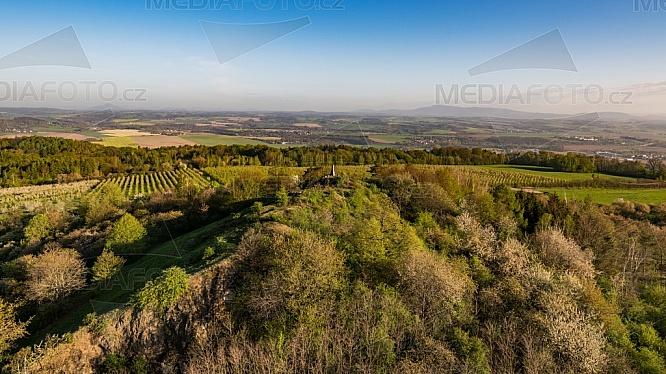 Vrch Mužský (463 m), Český ráj, letecky