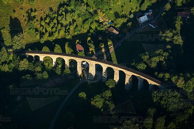 Viadukt Novina, letecky