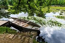 loď, rybník