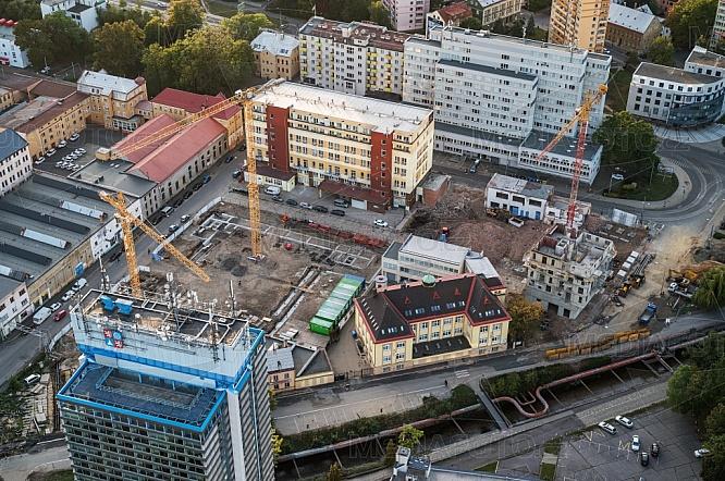 Bytový komplex Oáza v centru, Liberec, letecky