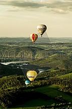 Slapy, přehrada, letecky, balon, horkovzdušný