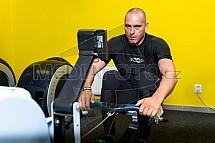 posilovna, fitness, trénink, Radek Hadrovský, veslování