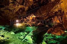 Bozkovské dolomitové jeskyně, jezírko, voda