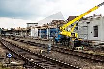 Nádraží, Liberec, modernizace, doprava, železnice, jeřáb