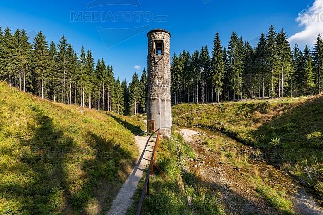 Protržená přehrada, Jizerské hory, věž