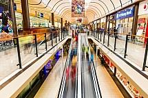OC Nisa, obchod, nákupní centrum, pasáž, eskalátor