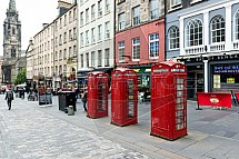 Telefonní budka, Edinburgh