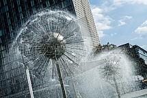 Drážďany, fontána, moderní
