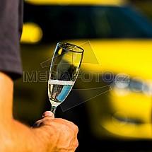 Sklenička, šampaňské, automobil, řízení, opilost