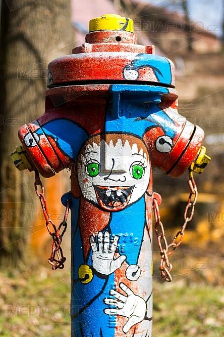 požární, hydrant, malba