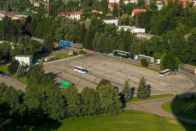 Autobusové nádraží, Turnov, letecky