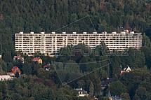 Panelák Wolkerova, Liberec, letecky