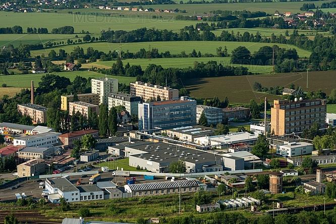 Průmyslová zóna Nudvojovice, Turnov, letecky