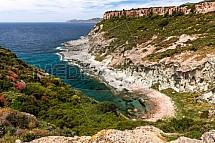 Moře, pobřeží, útes, skála, Sardinie