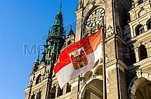 radnice, vlajka, znak, Liberec