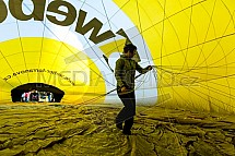 Horkovzdušný balon, příprava, start, obal