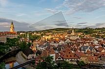 Český Krumlov, zámek, město, centrum