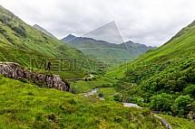 Fotograf, řeka Shiel, údolí, Skotsko