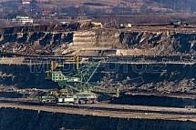 Rypadlo, uhlí, hnědouhelný důl Turów