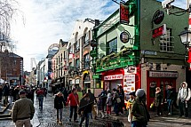 Temple Bar Square, Dublin, ulice, dům, budova