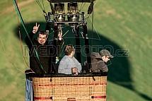 Koš, pilot, pasažér, horkovzdušný balon
