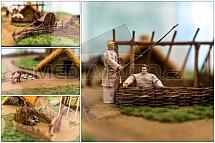 Model velkomoravské vesnice