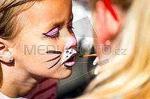 Bodypaint, malování, tvář, kočka