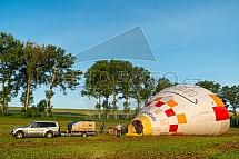 Horkovzdušný balon, start
