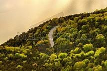 Silnice, přehrada, Slapy, les