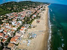 Silvi Marina, pláž, Abruzzo, krajina