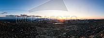 Norsko, hory, západ slunce
