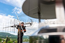 Telekomunikace, technik, anténa, stožár
