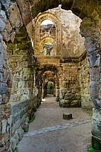 Oybin, hrad, klášter, zřícenina, klenba