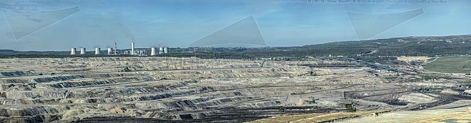 Elektrárna, Turów, Polsko, panorama