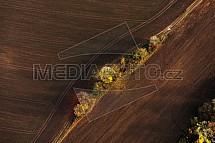Pole, zorané, zemědělství, mez, podzim