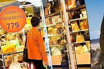 nákupy, obchod, kabelky, zákazník, prodejna