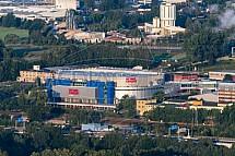 Home Credit Arena, Liberec, letecky