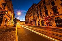 Ulice 1. Máje, Liberec, večer