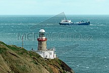 Maják Baily Lighthouse, poloostrov Howth, Dublin, Irsko