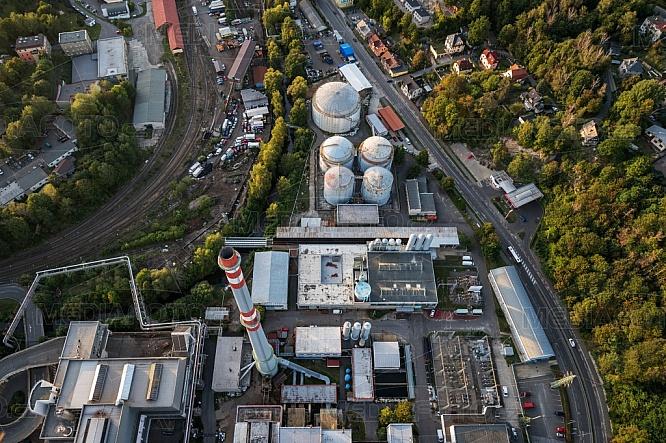 Teplárna Liberec, letecky