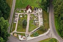 Hřbitov, Kacanovy, letecky