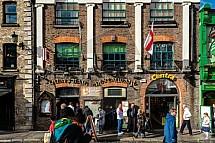 Quays bar, Dublin, ulice, dům, budova
