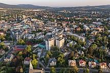 Krajská Nemocnice, Liberec, letecky, budova, heliport