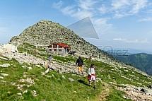 Chopok, Kamenná chata, turista, krajina