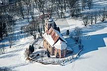 kostel sv. Martina, Javorník, letecky