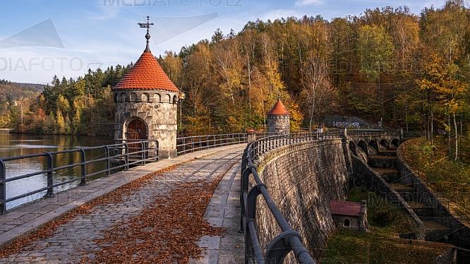 Přehrada, hráz, Liberec