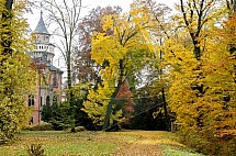 Sychrov, zámek, podzim, park